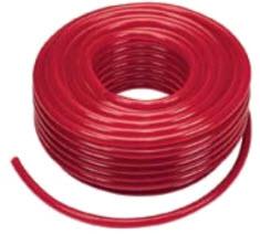 Berühmt PVC-Schlauch m. Gewebe, rot transparent - 6x3mm, Org. Rolle a 50m YT02