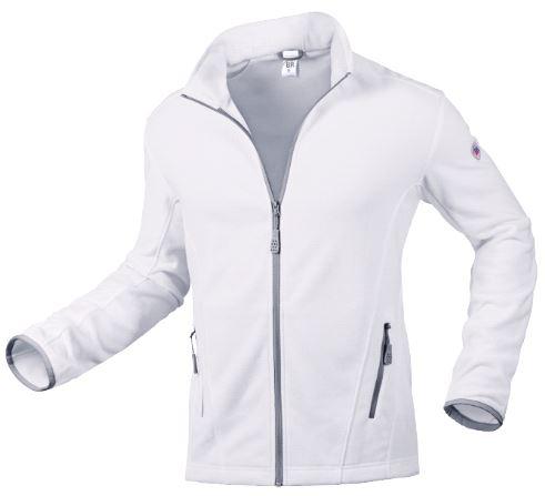 BP® Fleecejacke für Herren weiß Gr. XS, 100% Polyester